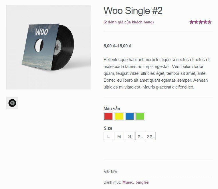 [Woocommerce] Cách sử dụng YITH WooCommerce Color and Label Variations